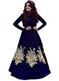 Royal Export Women's Blue Bangalori Silk Gown
