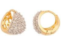 Jewels Galaxy Stunning AD Bali Alloy Huggie Earring