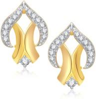 Meenaz Trendy Design Gold & Rhodium Cubic Zirconia Alloy Stud Earring