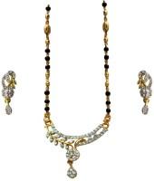 Being Women Brass Jewel Set(White, Gold, Black)