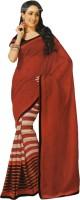 Bhavi Printed Fashion Art Silk Saree(Red)