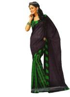 Bhavi Printed Fashion Art Silk Saree(Black)