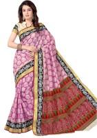 M.S.Retail Printed Gadwal Cotton Saree(Pink)